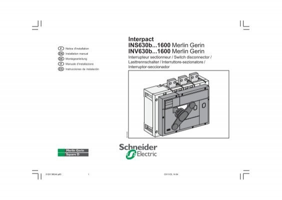 Interpact INS630b...1600 Merlin Gerin INV630b