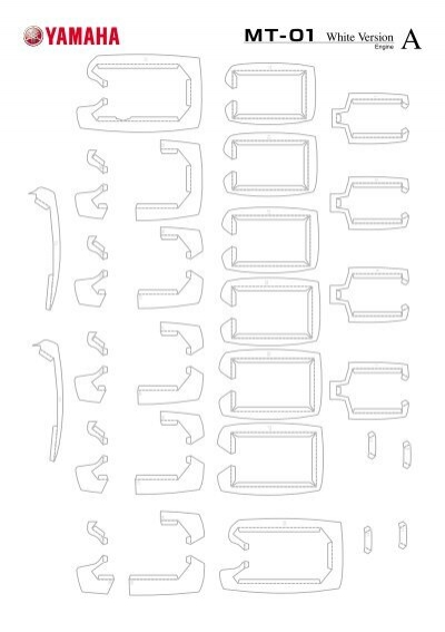 ULTRA-REALISTIC PAPER CRAFT MT-01 Vol.1/Engine White version