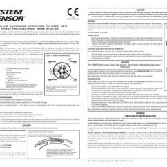 System Sensor 2351e Smoke Detector Wiring Diagram 2016 Nissan Sentra Stereo Installation And Maintenance Instructions For Model Low