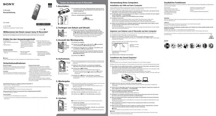 IC Recorder Guida rapida