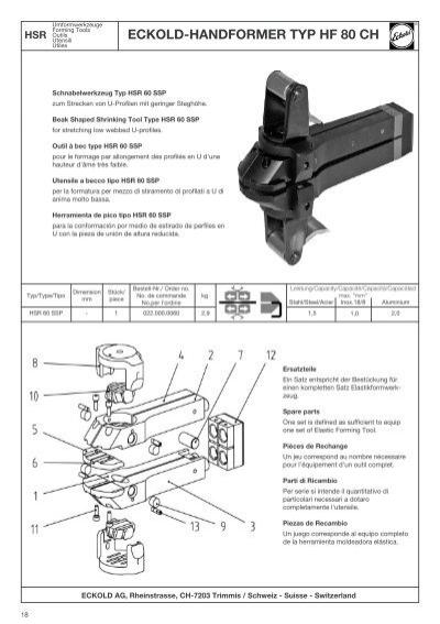 18 HSR Typ/Type/Tipo Umfo