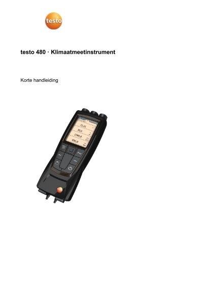 Korte handleiding testo 480