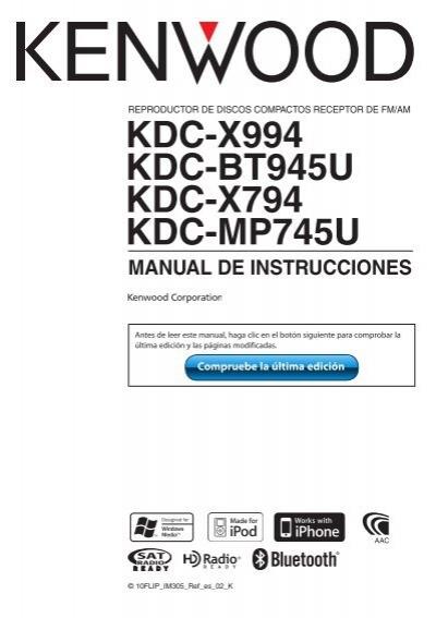 KDC X994 MANUAL PDF