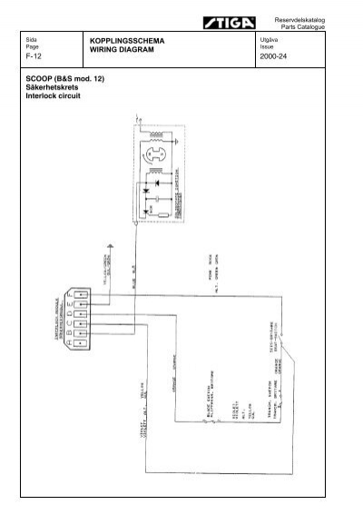 WIRING DIAGRAM 2000-24 SCOOP (B&S mod. 12)