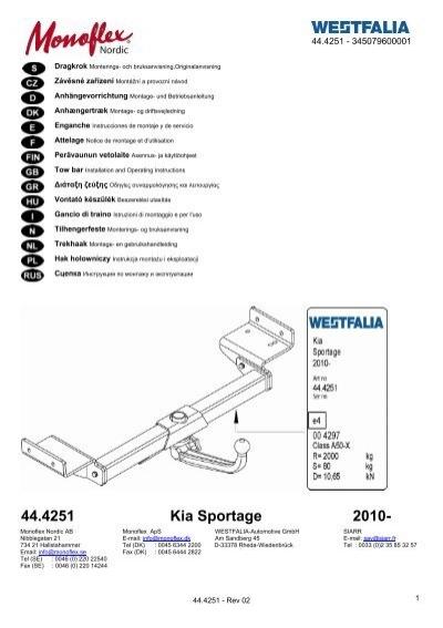 44.4251 Kia Sportage 2010-