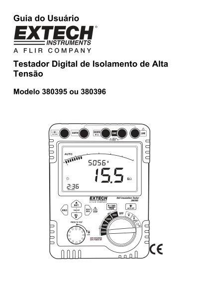 Guia do Usuário Testador Digital de Isolamento de Alta Tensão