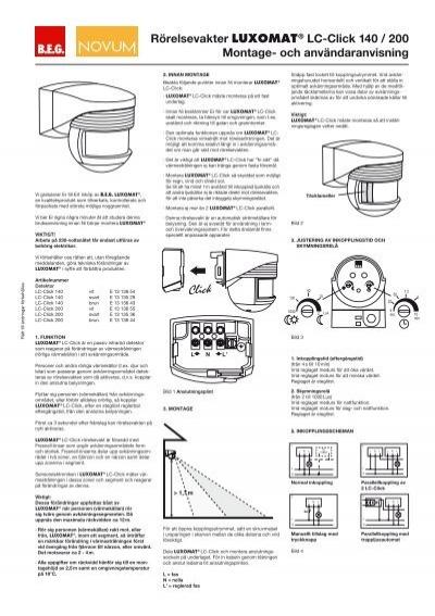 Rörelsevakter LUXOMAT® LC-Click 140 / 200 Montage