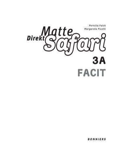 Ladda ner facit till Matte Direkt Grundbok 3A kapitel 1