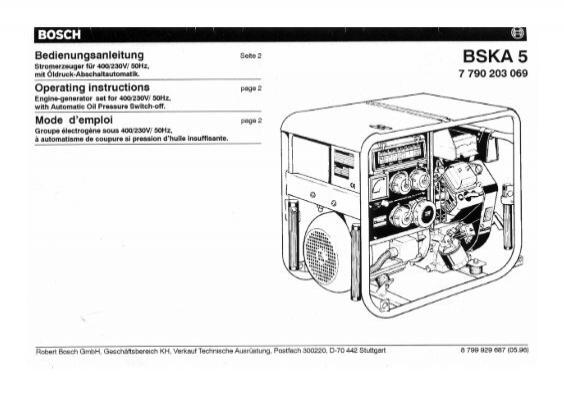 Stromerzeuger Bosch BSKA 5