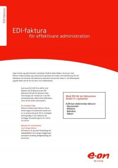 EDIfaktura  Fr effektivare administration  Eon