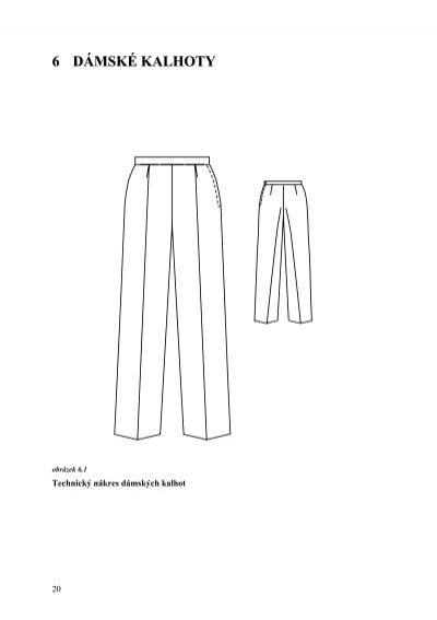 konstrukce dámských kalhot