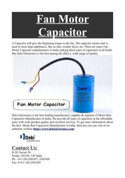 Fan Capacitor Price India