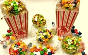 Popcorn balls on towers