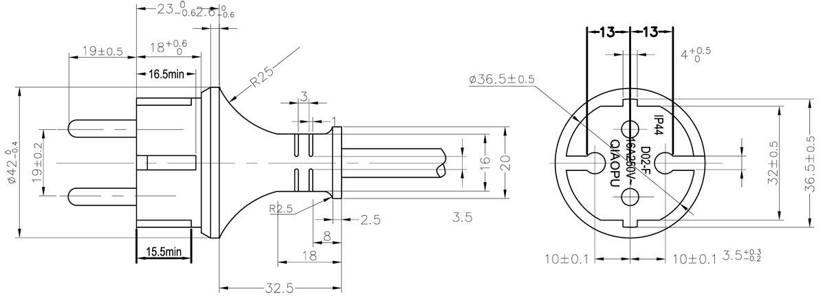 German Plug Wiring Diagram