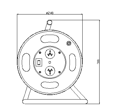 2 Outlet 10A Cable Reel with Surge Suppressor