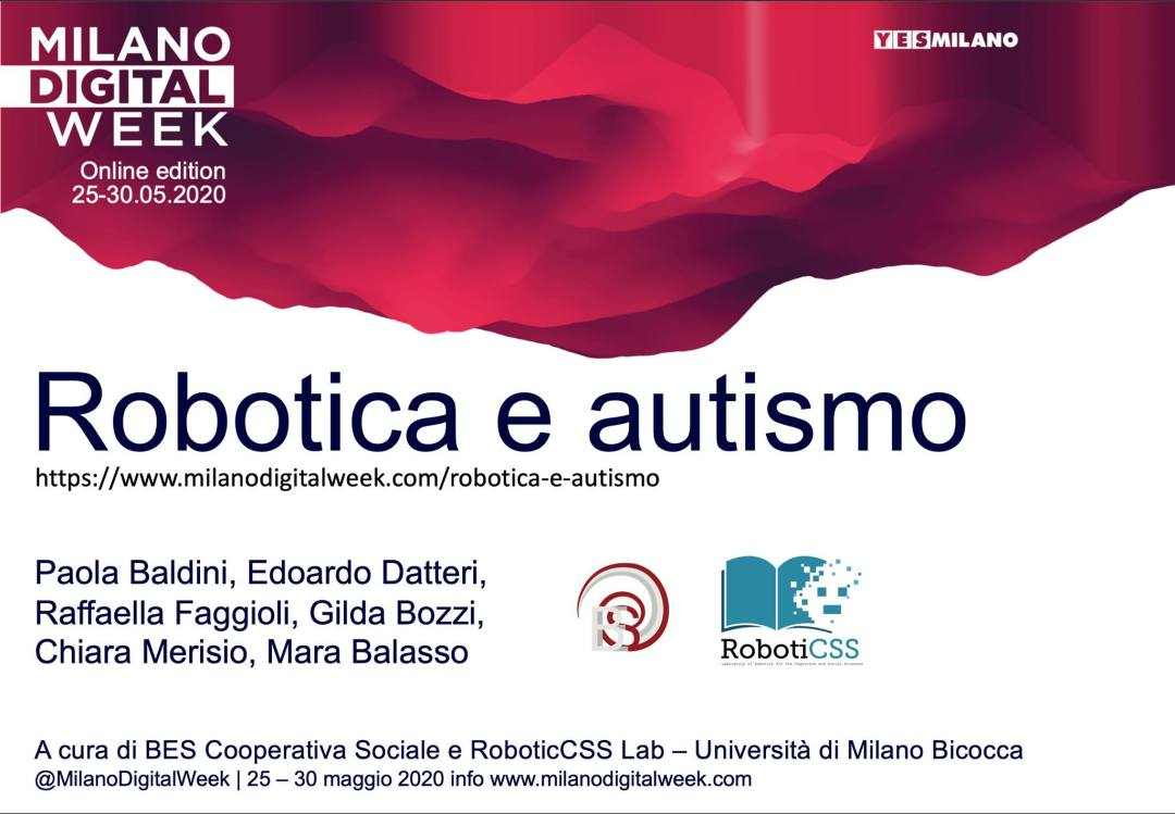 Robotica e Autismo – Milano Digital Week 2020