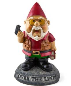 Over the Line Garden Gnome