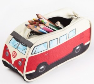 VW Camper Van Pencil Case - Red