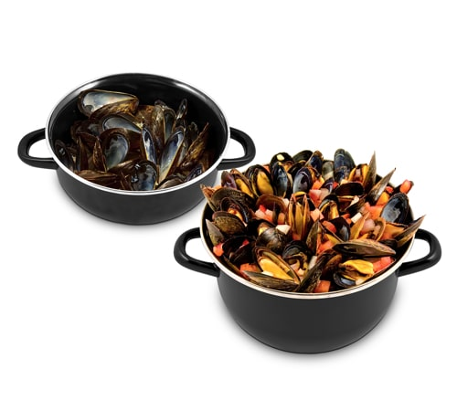 Mussel Pot Set - Black
