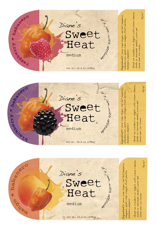 Diane's Sweet Heat Jam Labels