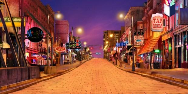 20'x40' Memphis, TN backdrop based on Beale Street