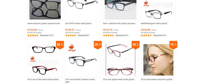 Aliexpressden gözlük sipariş etmek