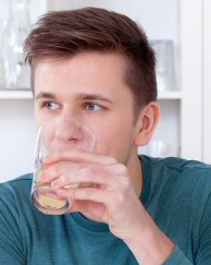 Man Drinking Urine