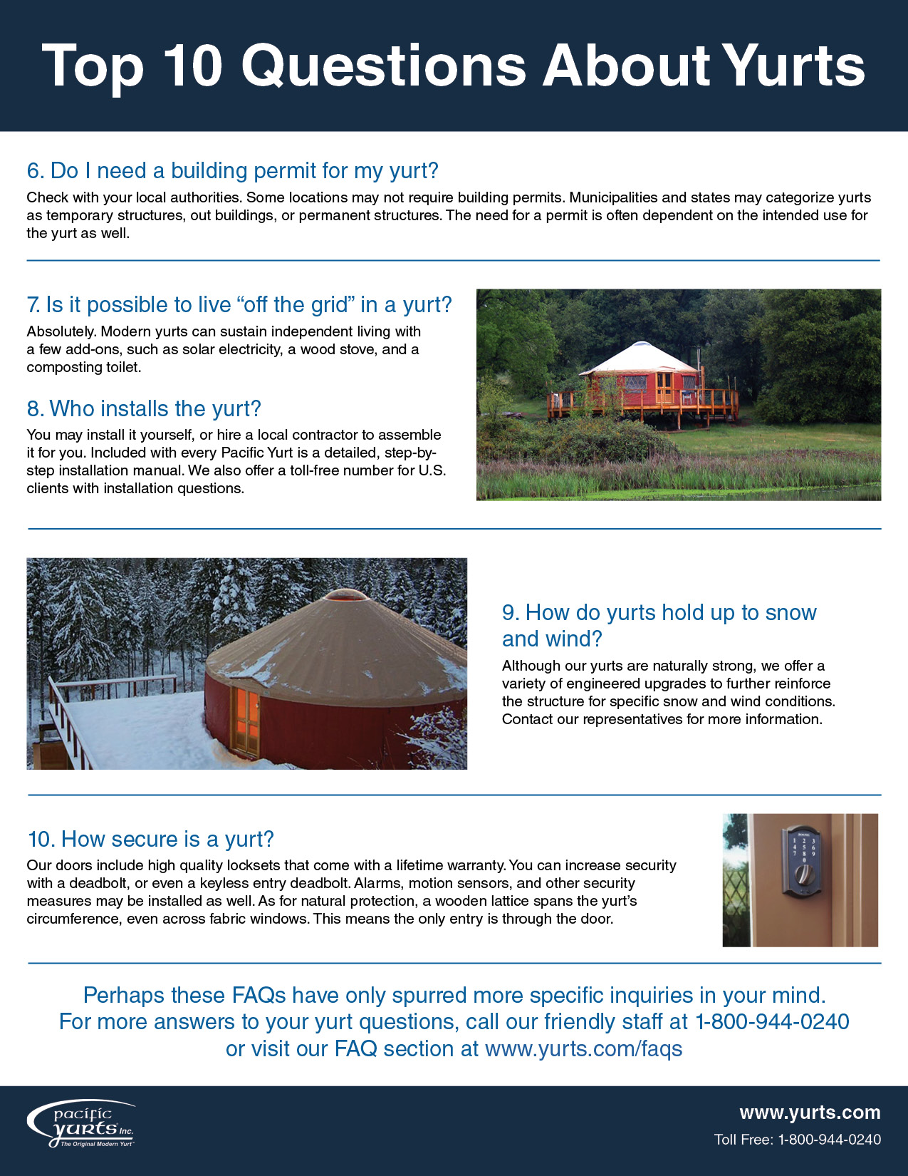 Frequently Asked Questions About Yurts
