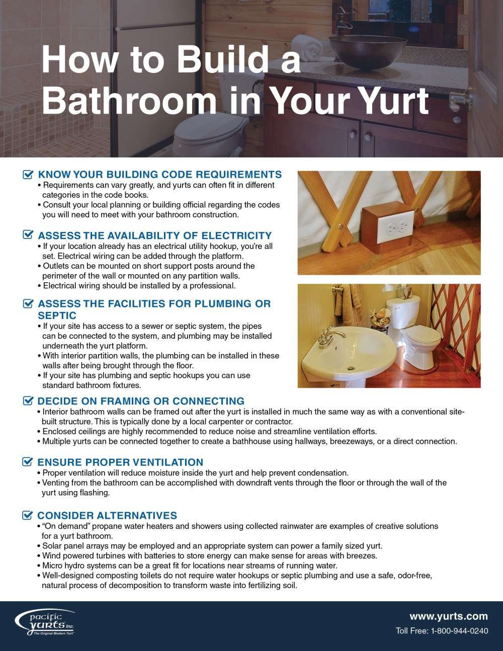 medium resolution of tips for building a bathroom in your yurt checklist