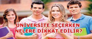 Üniversite seciminde 8 onemli kriter