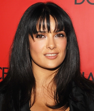 Salma Hayeks Huge Hairstyle Collection
