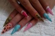 superb stiletto nail art design
