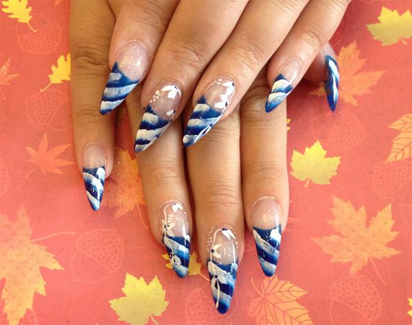 20 Superb Stiletto Nail Art Designs 2016   YusraBlog.com