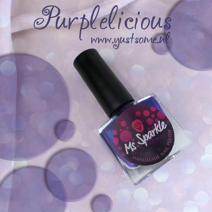Purplelicious   ms sparkle   paars   purple   nailpolish   yustsome