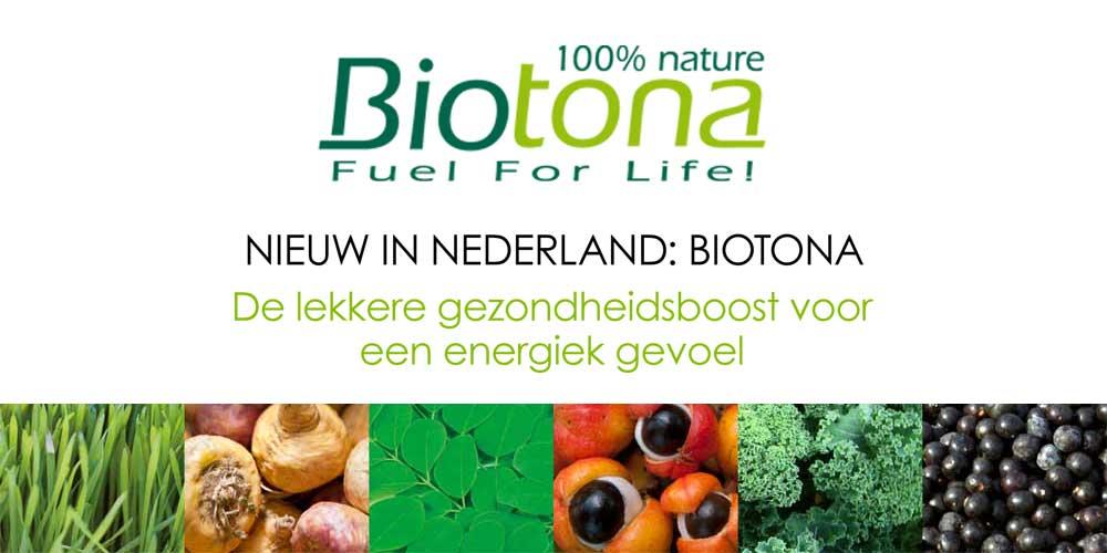 NIEUW IN NEDERLAND: BIOTONA