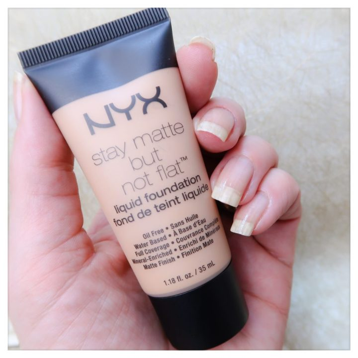 NYX Stay matte but not flat yustsome review shade 02 light skin tone