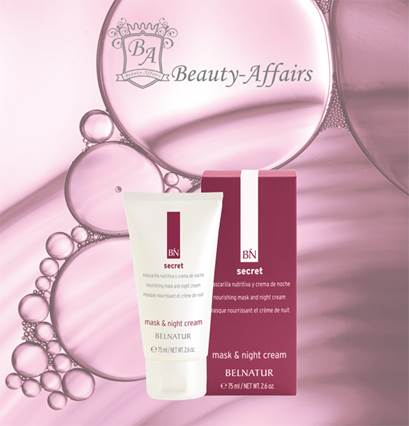 NIEUW BINNEN DE BELNATUR SECRET LINE:  Mask & Night Cream