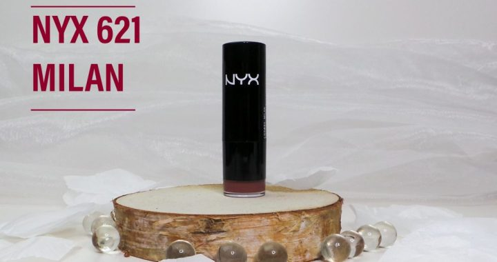 Nyx, cosmetics, lipstick, 621, milan, swatch, review, beauty, blog, yustsome