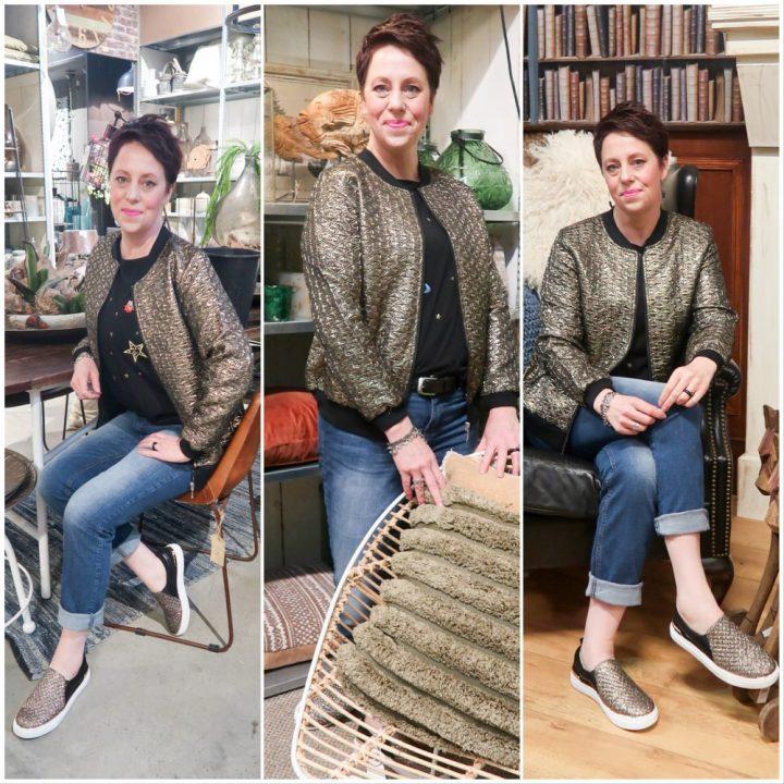 Laura, Kent, Klingel, fashion, goud, jasje, gold, blouson, bomberjack, mode, yustsome, blogger