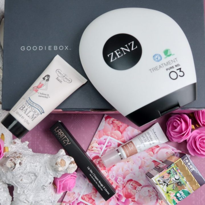 GOODIEBOX, april, 2018, unboxing, review, beauty, skincare, teeez, percy & reed, laritzy, balance me, zenz, blogpost, yustsome, good