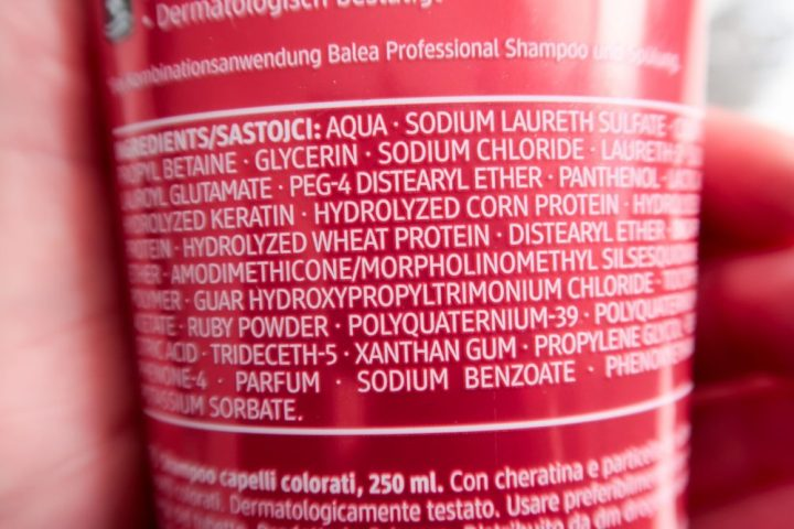 Balea, haar, shampoo, conditioner, bescherming, haren, rood, geverfd, kleur, yustsome