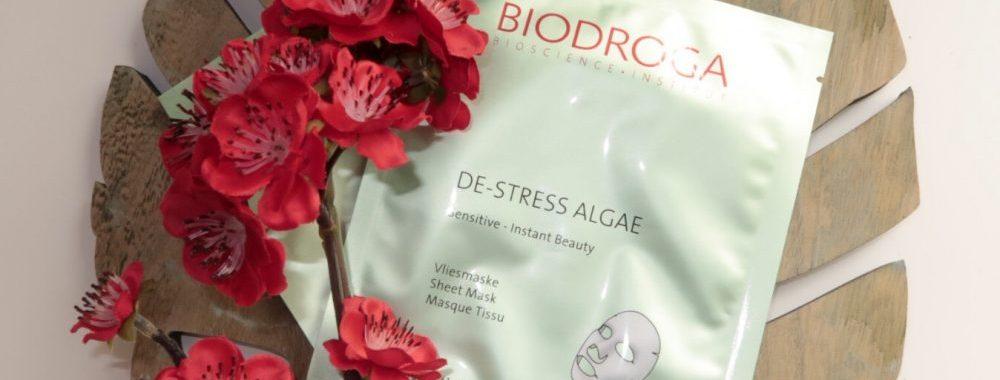 Biodroga, alg, algen, masker, vlies, doek, beauty, de-stress, ontstressen, gevoelige, huid, blog, review, yustsome