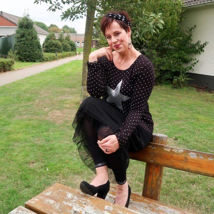 Polka dot, skirt, rok, stippen, tule, Esprit, Ernstigs, familia, van haren, ster, stip, beautysome.nl