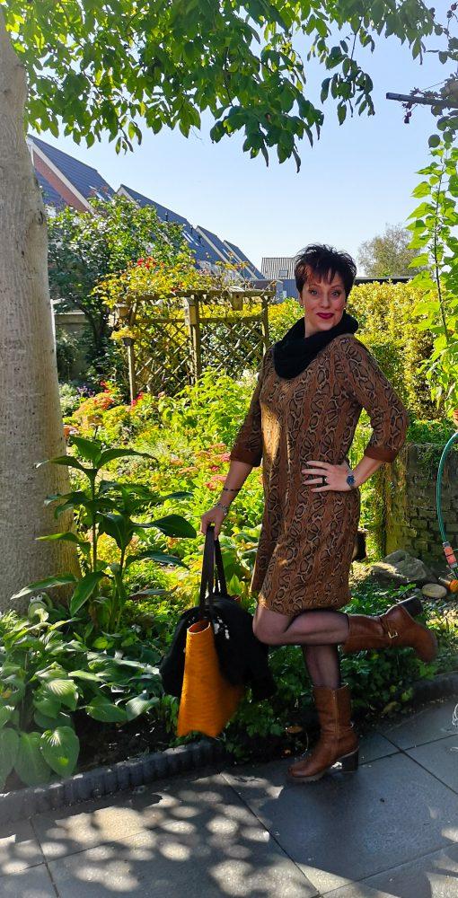 Snake, skin, dress, jurk, heuveltex.nl, tas, riet, herfst, kleding, mode, beautysome