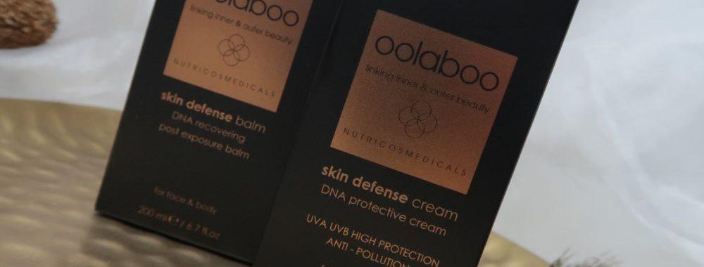 Oolaboo, skin, defense, zon, bescherming, UvA, UVB, zonlicht, pollution, pollutie, vervuiling, huid, verzorging