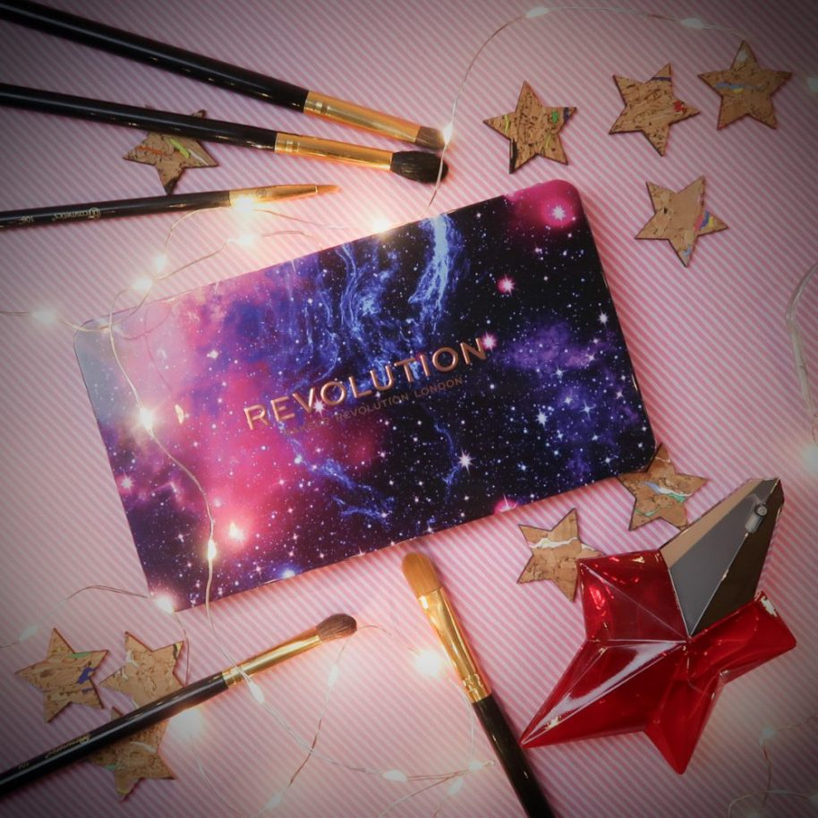 Revolution, Galaxy, eyeshadow, palette, eyes, makeup, beauty, swatch
