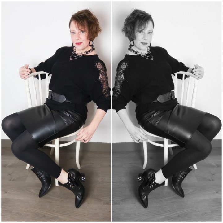 Een zwarte trui met sjieke uitstraling