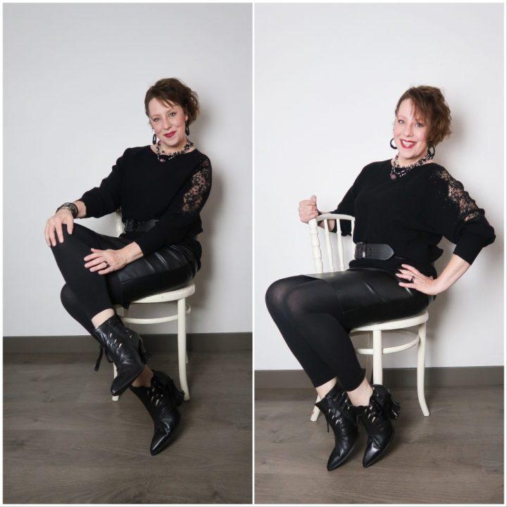 Zwarte trui, sjiek, details, kant, strass, steentjes, feestelijk, kleding, mode, beautysome