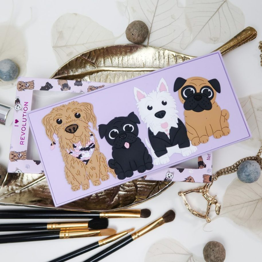 Revolution, Revo-Pooches, eyeshadow, palette, review, swatches, puppy, hondjes, beauty, makeup