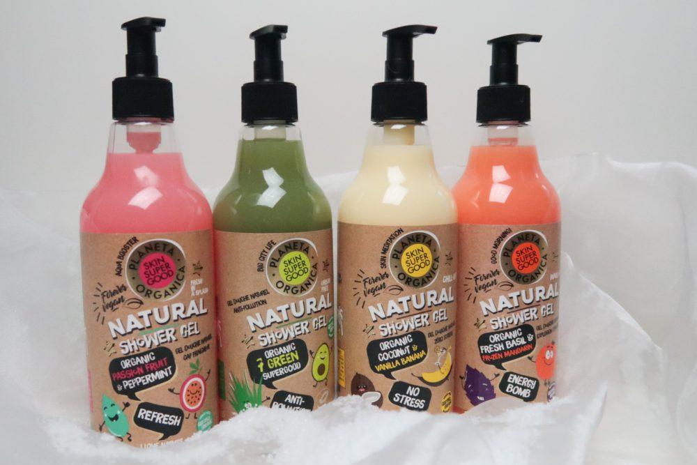 Met de Planeta Organica producten genieten van een natuurlijke douche ervaring